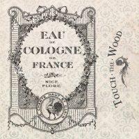 Eau de Cologne Vintage French Perfume Label