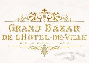 Shabby Chic Stencil Vintage Hotel de Ville Grand Bazar Advertv