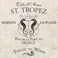 Vintage French Advert: St Tropez Holiday Resort